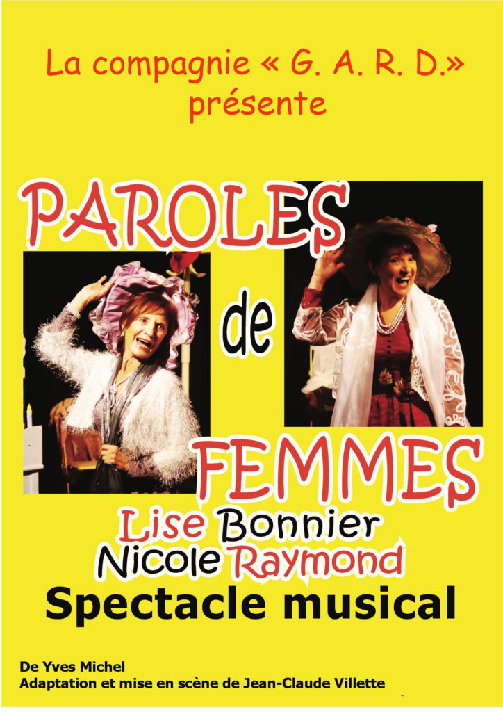 """""""Paroles de Femmes"""" - Salle de la LICORNE - 445 route des Taillades à CHEVAL BLANC"""